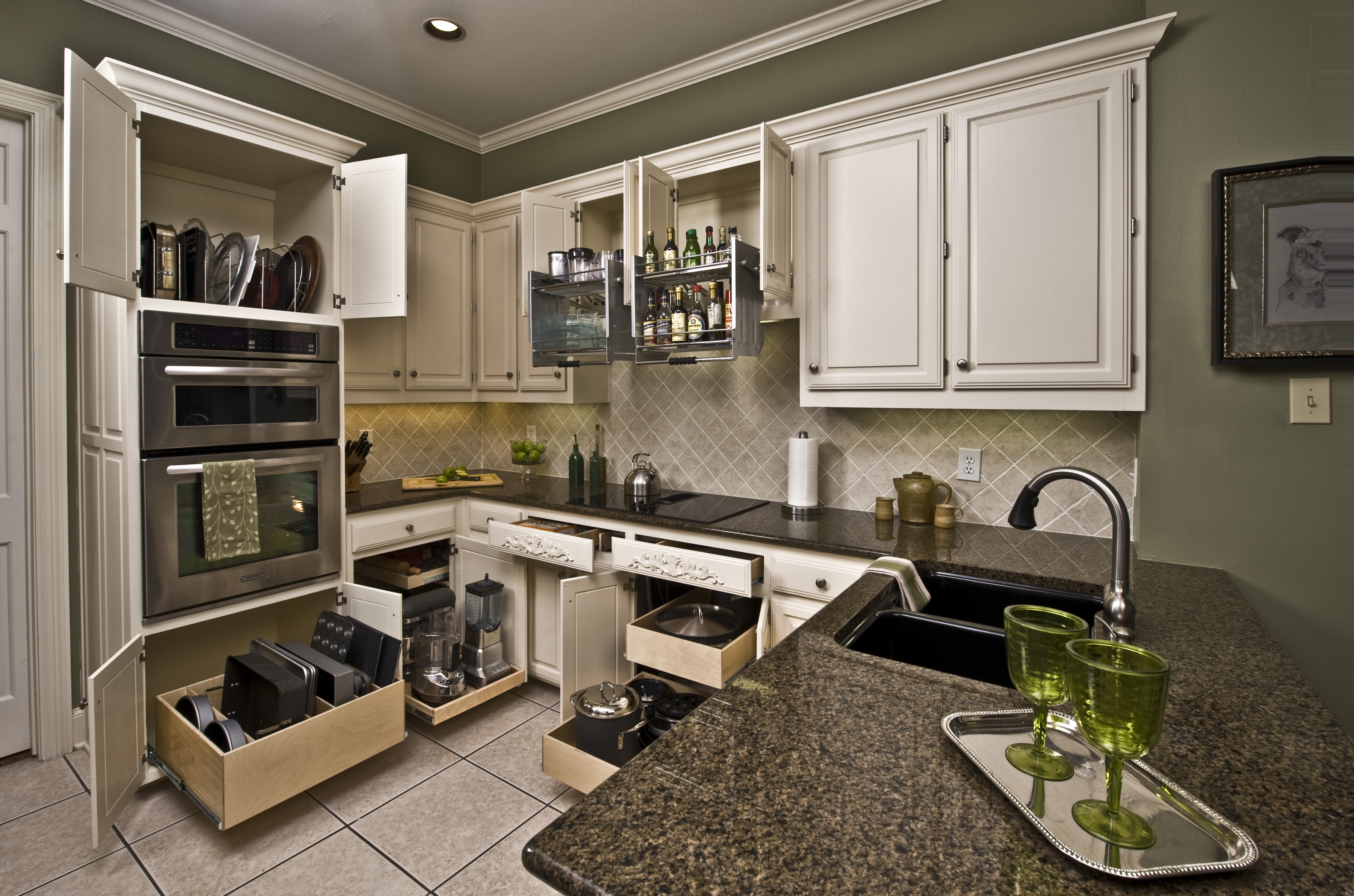 For A Kitchen Update Is Sliding Drawers For Lower Cabinet Shelving Made To Fit Slide Out